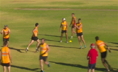 AFL Training Drills: Peripheral Vision Triangles