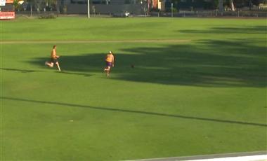 AFL Coaching Drills: Long Run, Long Kick, Run Past