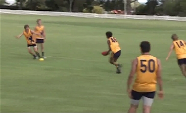AFL Football Training Drills: Give then Protect Handball