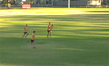 AFL Kicking Drills: Draw the Opponent 3-on-1
