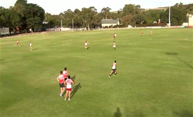 AFL Kicking Drills: Short to a Diagonal Lead