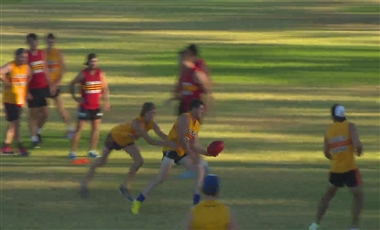 AFL Coaching Drills: Handball While Being Tackled