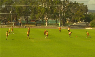 Aussie Rules Training Drills: Lane Race