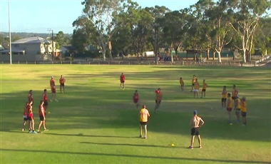 Footy Drills: Competitive Square