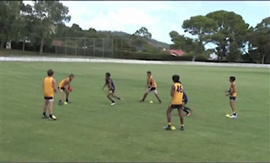 AFL Skills Coaching: Pressure in the Pentagon