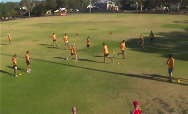 Training For AFL: Mid-air Collision Handball