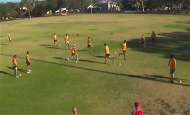 AFL Football Training: Mid-air Collision Handball