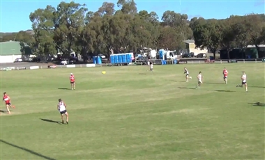 AFL Skills Coaching: 3-on-2 with Midfield Help