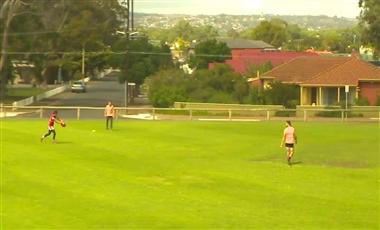 AFL Training Program: Across the Square Race