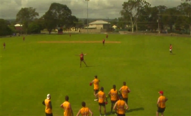 AFL Training Drills: Baseball Football