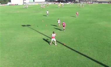AFL Training Drills: Defensive One-step Kick